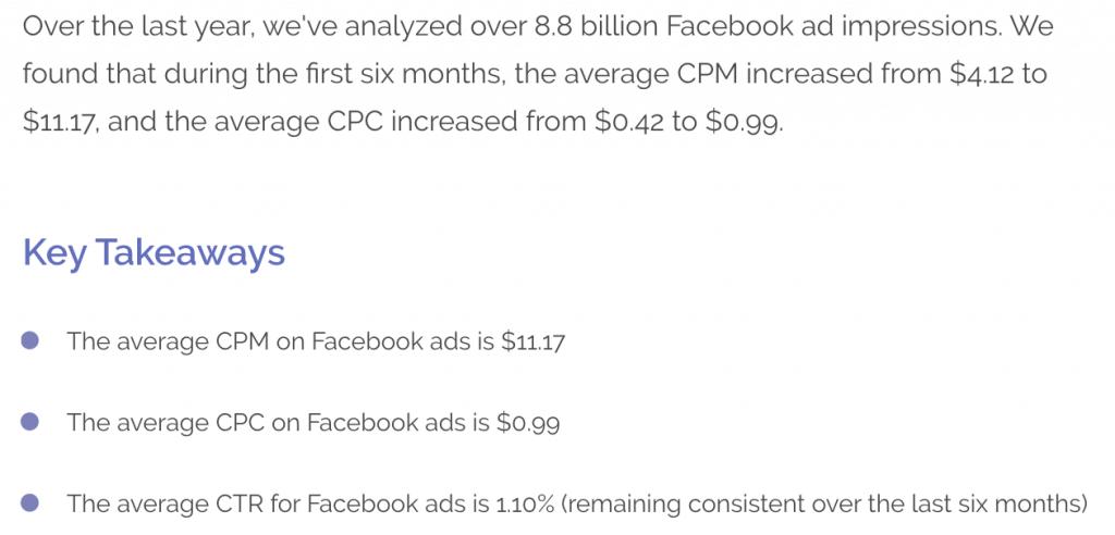 2017年超過88億次的Facebook廣告曝光次數數據報告